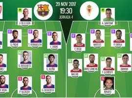 Les compos officielles du match de Coupe du Roi entre Barcelone et le Real Murcie. BeSoccer