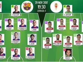 Official lineups Barcelona-Murcia. BeSoccer