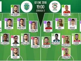 Les compos officielles du match de Liga NOS entre le Sporting Lisbonne et le Maritimo. BeSoccer