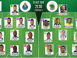 Les compos officielles du match de Liga NOS entre Porto et Pacos de Ferreira. BeSoccer