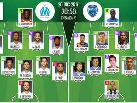 As escalações de Marseille e Troyes para este jogo. BeSoccer