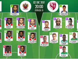 As escalações oficiais de  Nice e Metz para esta partida da Ligue 1. BeSoccer
