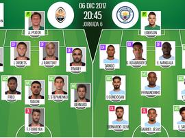 As escalações de Shakhtar Donetsk e Manchester City para esta partida. BeSoccer