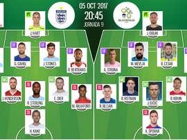 Les compos officielles du match qualificatif entre l'Angleterre et la Slovénie. BeSoccer