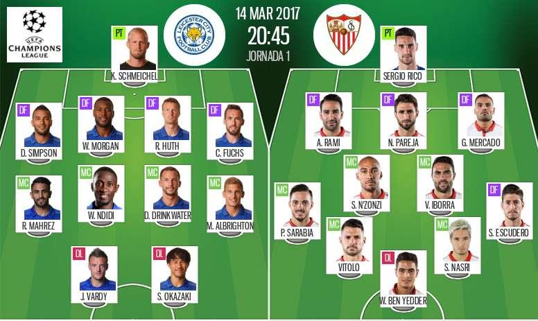 Live Leicester Vs Sevilla Besoccer