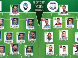 As escalações de Atalanta e Apollon para este jogo da Europa League. BeSoccer