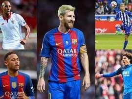 Les grands protagonistes de la saison 2016-17 en Liga. BeSoccer