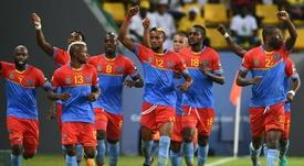 Les joueurs de la RDC lors d'un match de la CAN. AFP