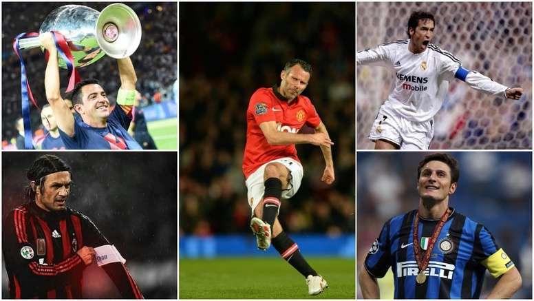 Les légendes du foot. BeSoccer