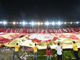 Les supporteurs d'Independiente lors de la finale retour de la Copa Sudamericana contre Huracan