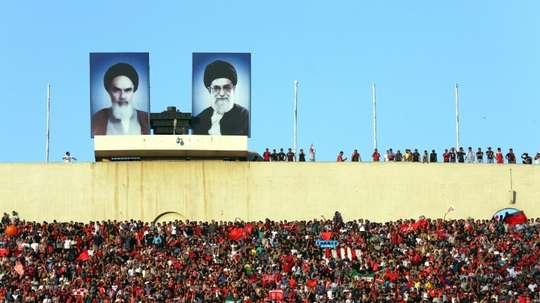 Les supporteurs du club iranien de Persepolis pendant le match de Ligue des champions d'Asie contre les Saoudiens de Al-Hilal. AFP