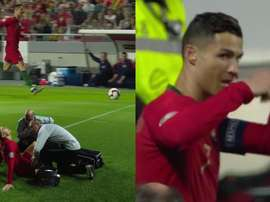 Cristiano est sorti sur blessure. Captures/Cuatro