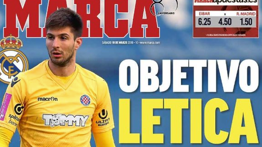 Real Madrid have now set their sights on Letica. MARCA