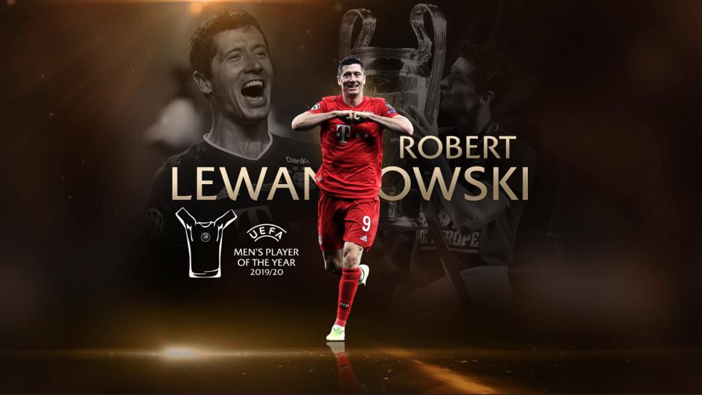 Lewandowski, en la creatividad como mejor jugador para la UEFA