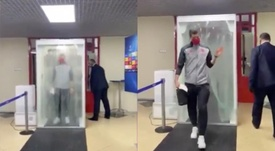 There were strict health measures in Russia. Twitter/FCBayern