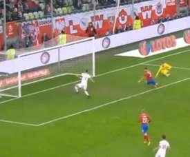 El error más grande de Lewandowski. EFE
