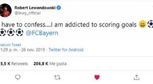 Lewandowski, auteur d'un quadruplé en Ligue des champions. Capture/lewy_official