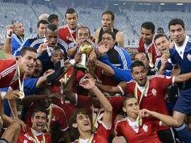 Libia celebra el Campeonato Africano de Naciones de 2014. AFP