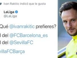 Rakitic prefers his Sevilla version. Twitter/LaLiga