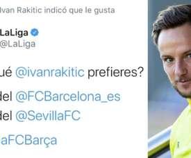 Rakitic coloca a internet de pernas pro ar. Twitter/LaLiga