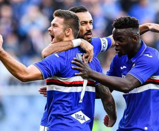 Vieira sogna il primo goal con la Samp. Twitter/UCSampdoria