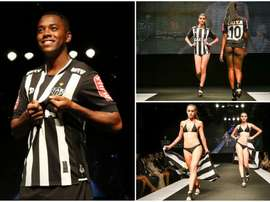 Lingerie models reveal Atletico Mineiro's new kit. Twitter