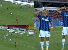 Inter in vantaggio sul campo del Benevento. MovistarLigadeCampeones