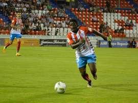 El camerunés deja el Lugo hasta final de temporada. CDLugo