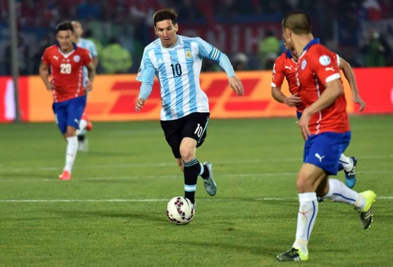 Lionel Messi, in action with Argentina in the 2015 Copa America, has been excused from Barcelona US tour so he can rest