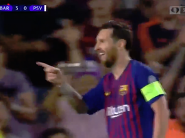 Messi kept his nerve to complete the rout. Screenshot