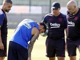 Messi continua sem treinar com o grupo. FCBarcelona