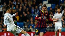 Passaram cinco anos do hat-trick de Messi no Bernabéu. AFP