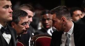 Bartomeu aparca su polémica con Leo Messi. EFE