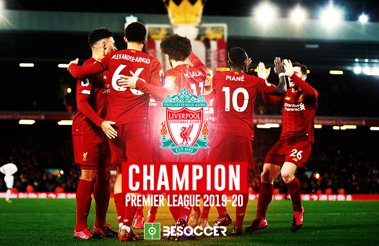 Liverpool est champion d'Angleterre 2019-2020. BeSoccer