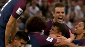 Lo Celso opened the scoring at the Stade de France. Captura