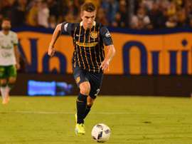 Lo Celso in action for Rosario Central. PSG