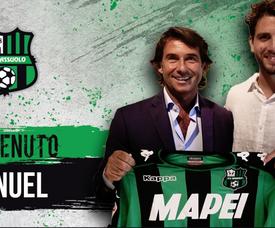 El Sassuolo tiene una cláusula de compra obligatoria tras esta temporada. Twitter/SassuoloUS