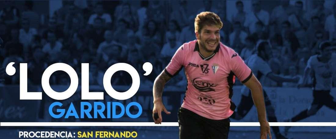 Lolo Garrido, nuevo jugador del Melilla. UDMelilla