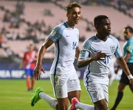Lookman a joué avec les U19, U20 et U21 de l'Angleterre. AFP