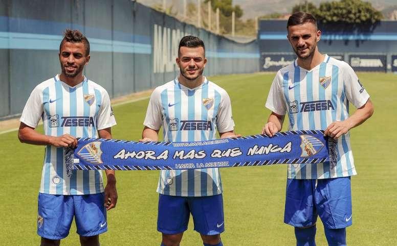 Lorenzo González (c) tiene que ir con su Selección. MalagaCF
