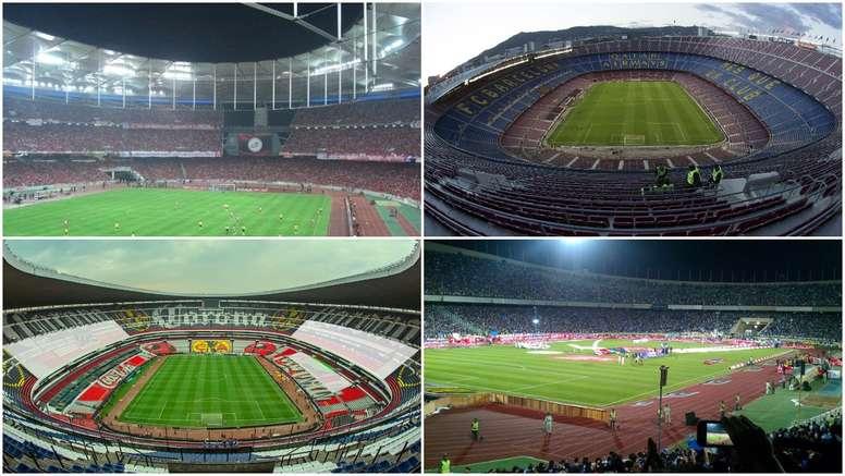 El Camp Nou o el Azteca, entre los 10 estadios más grandes del mundo. BeSoccer