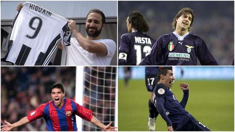 Ranking de los mayores traspasos de jugadores argentinos. BeSoccer
