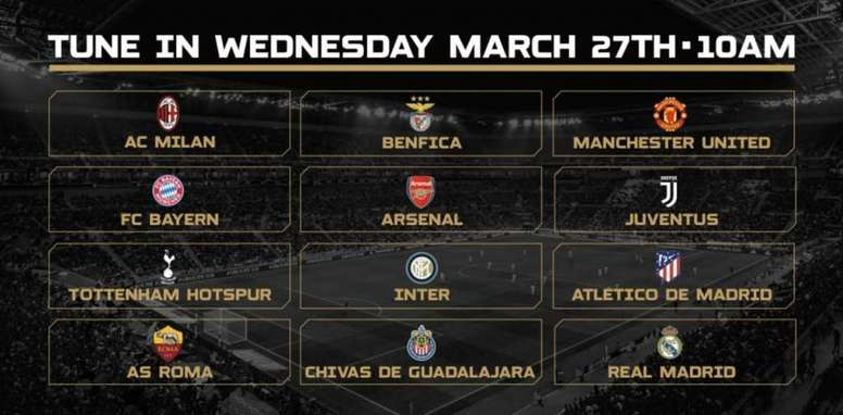 Chivas International Champions Cup Calendario.Los 12 Equipos Que Jugaran La International Champions Cup
