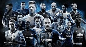 Estos son los 15 centrocampistas finalistas al FIFPro. FIFPRo