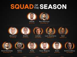The 18 best players of the Europa League season. Twitter/EuropaLeague