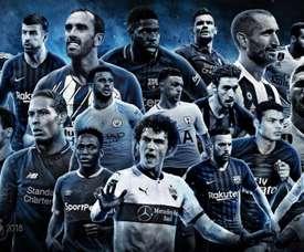 Estes são os 20 defensores finalistas do FIFPro. FIFPro