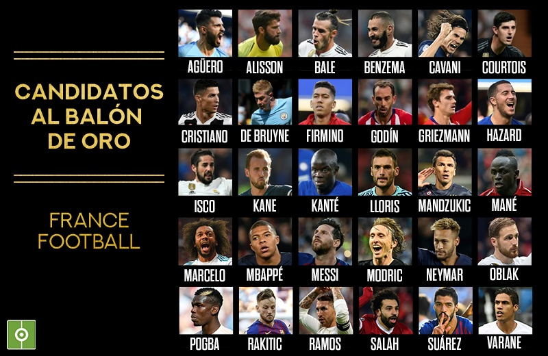 Harry Kane, Cristiano Ronaldo and Eden Hazard named on Ballon d'Or shortlist