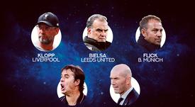 Les 5 nommés pour le prix FIFA The Best Coach. besoccer