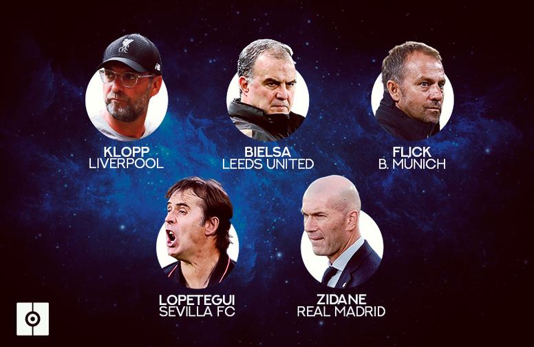 Estos son los cinco entrenadores nominados al 'The Best' 2020. BeSoccer
