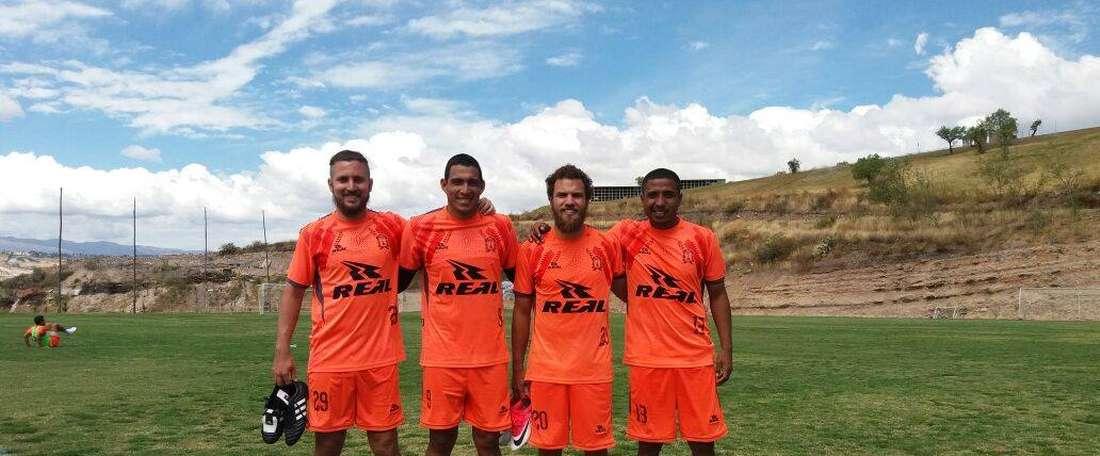 Leroyer, Chirinos, Gonzales-Vigil y Atoche, los cuatro fichajes de Ayacucho. Twitter/AyacuFC